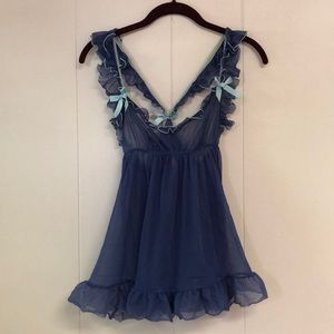 VS Blue Frilly Babydoll